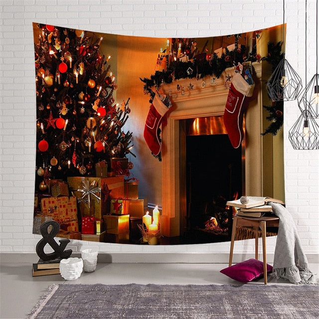 Christmas Tree & Gifts Tapestry