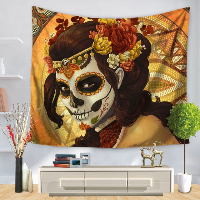 Painted Face Tapestry