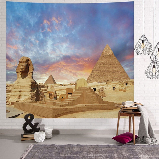 Ancient Pyramid Tapestry