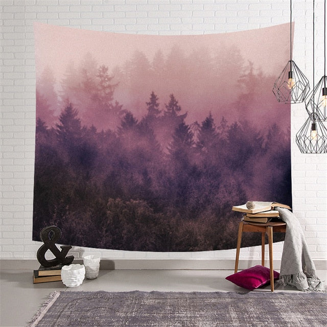 Pastel Forest Tapestry