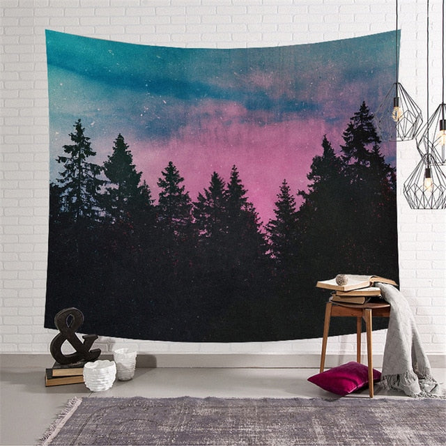Sunset Forest Tapestry