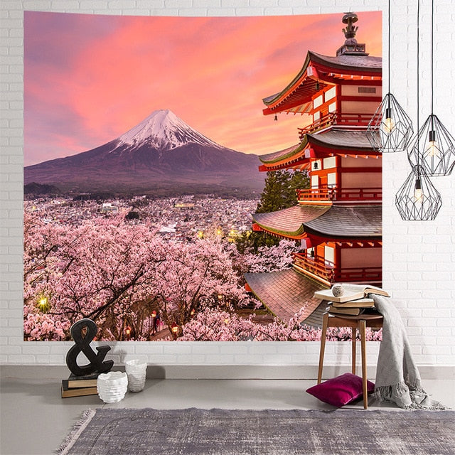 Japanese Beauty Tapestry