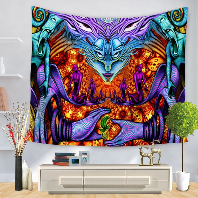 Gothic Psychedelic Tapestry