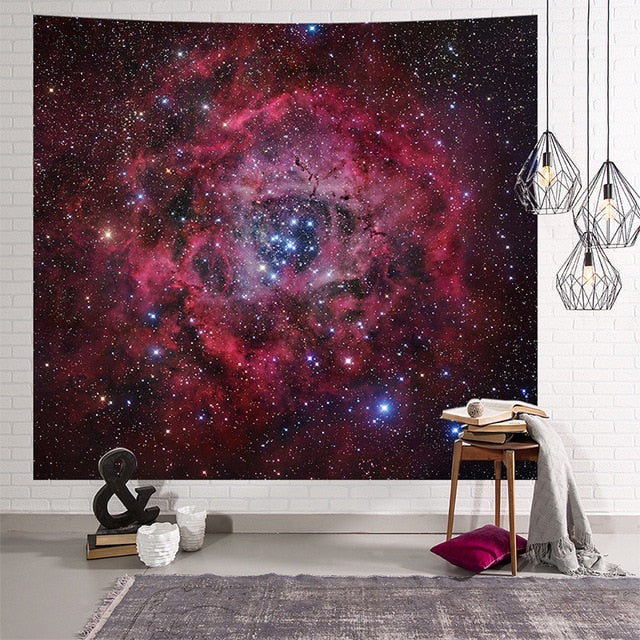 Red Space Tapestry