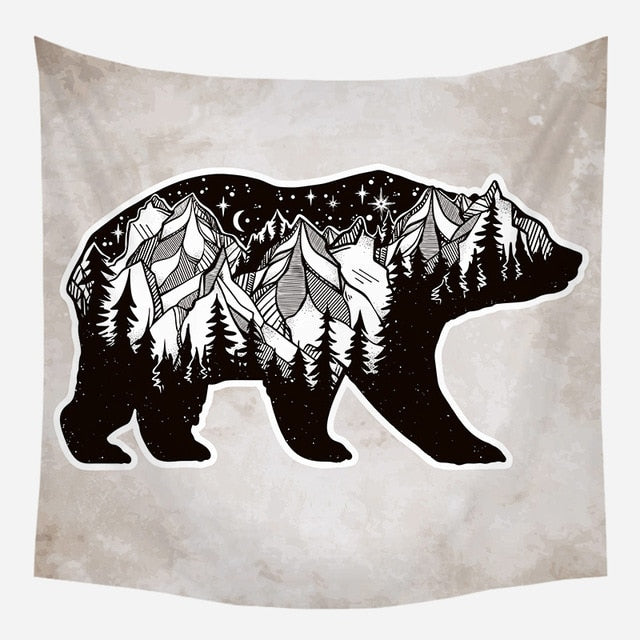 Mountain Bear Tapestry