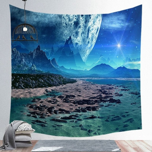Outer Space Galaxy Tapestry