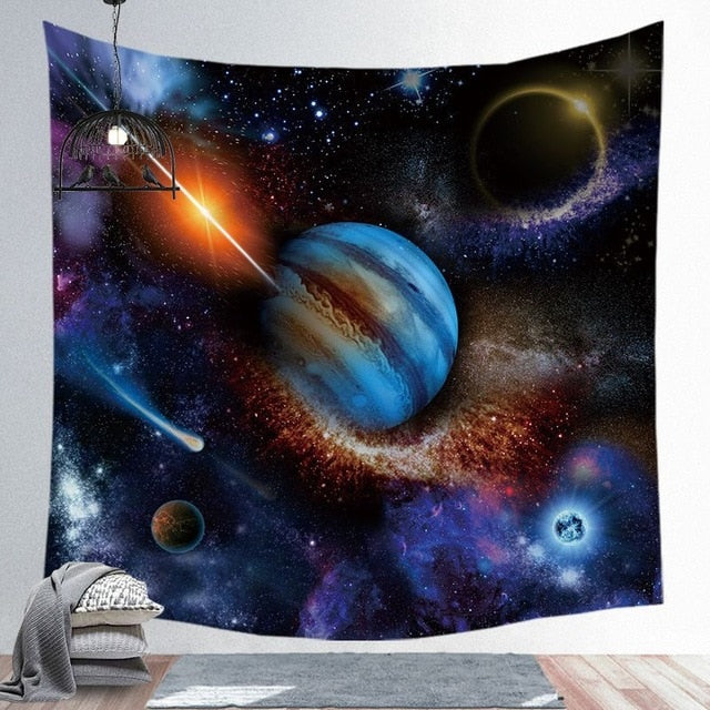 Space Planets Tapestry