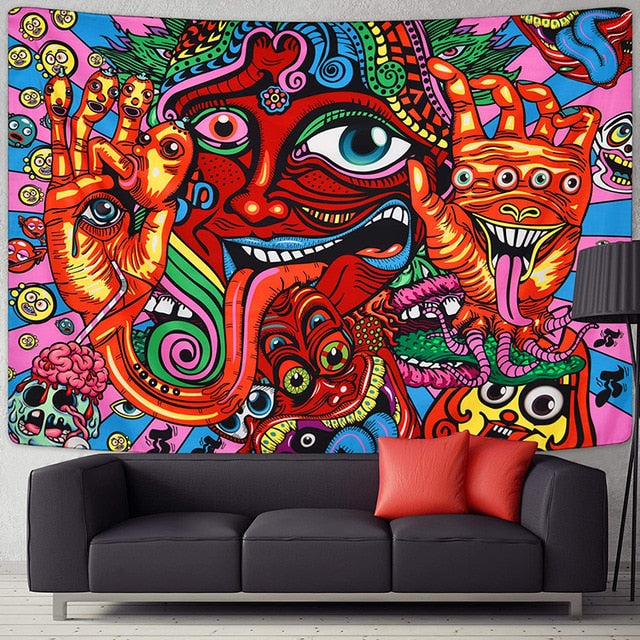 Funny Trippy Tapestry