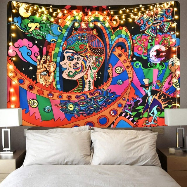Psychedelic Hippie Tapestry