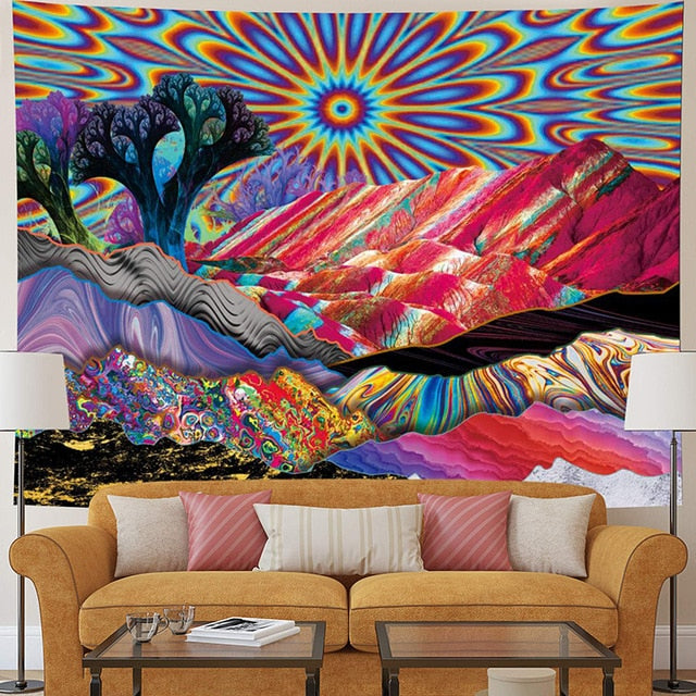 Psychedelic Sky Tapestry