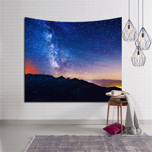Galactic Mountain Tapestry