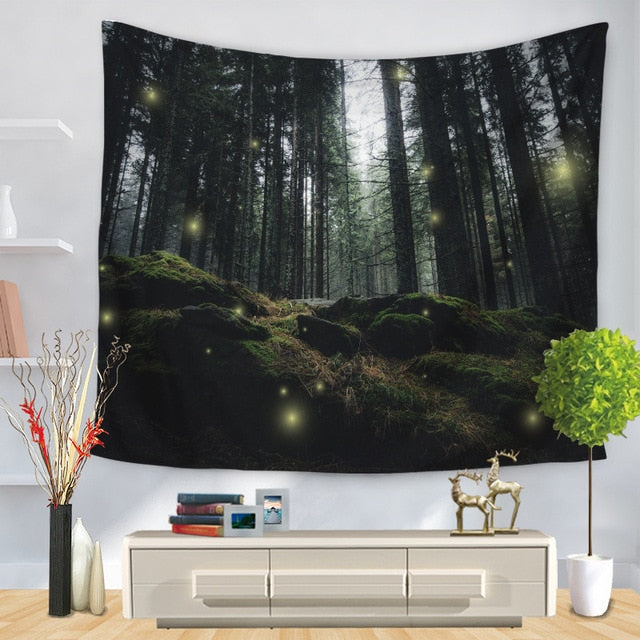 Glowing Forest Tapestry