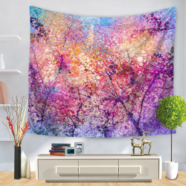 Colorful Forest Tapestry