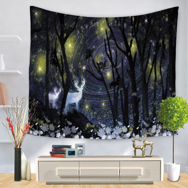 Spiral Forest Tapestry