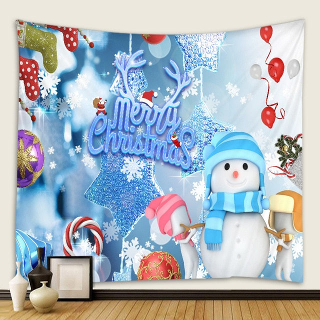 Christmas Snowman Tapestry