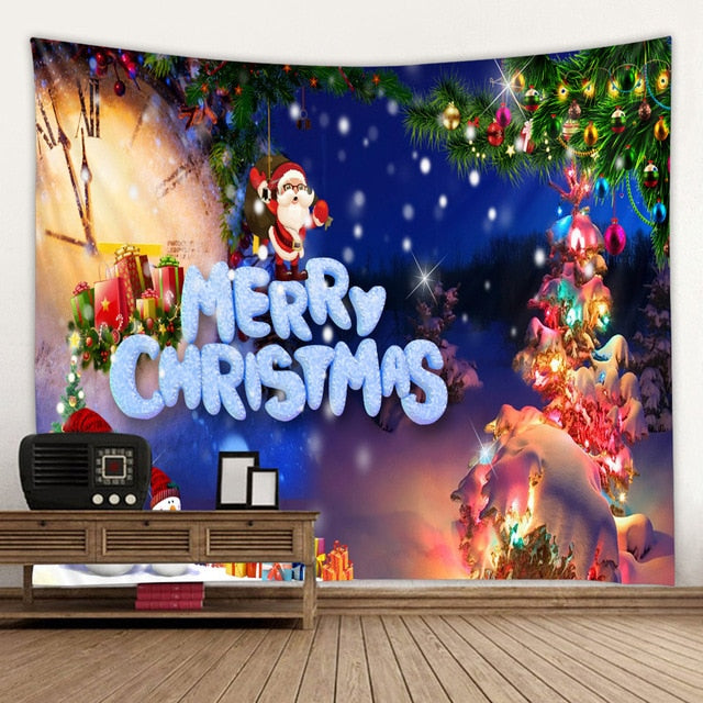 Aesthetic Christmas Decor Tapestry
