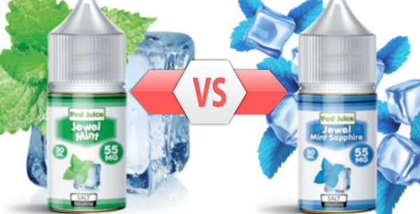 The Best Pure Menthol Vape Juice: Jewel Mint Sapphire Vs Jewel Mint