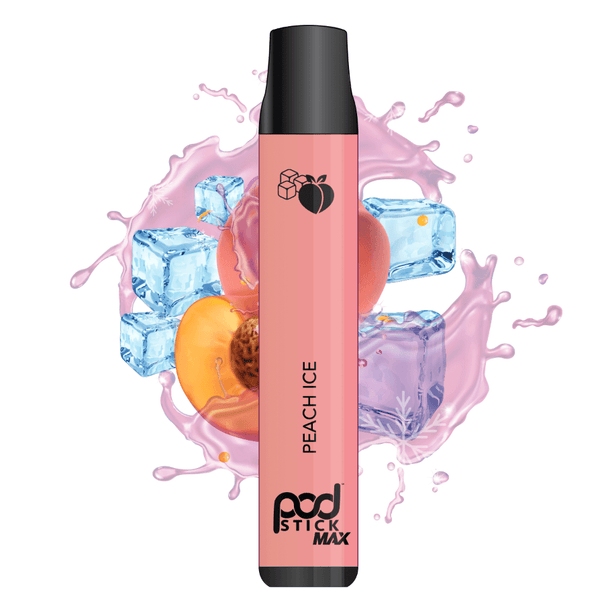 Peach Ice Pod Stick Disposable - Pod Juice