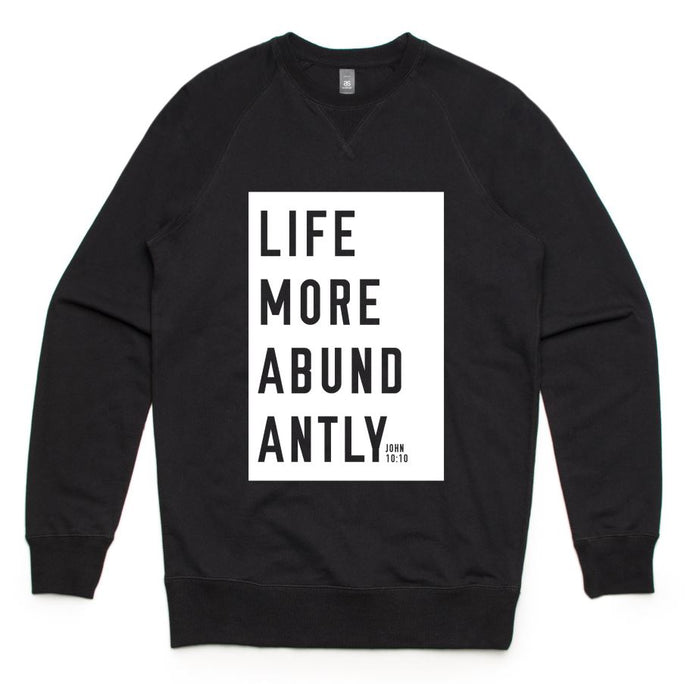 More Abundantly Sweatshirt (Black)