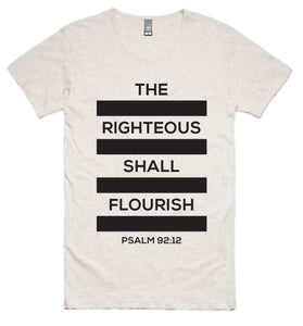 "The Righteous ""Bars"" Tee (Oatmeal)"