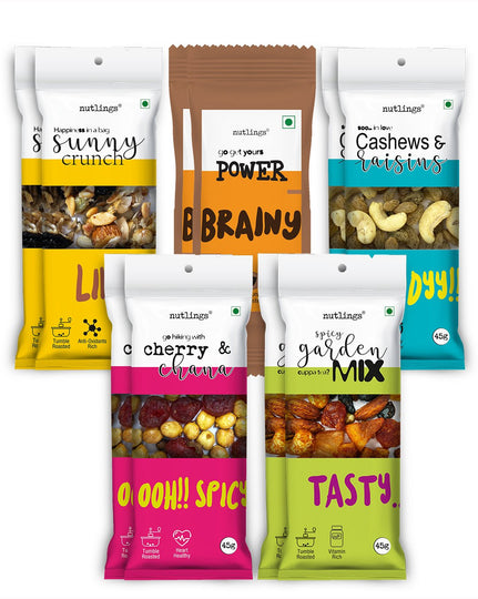 Team Ten Assorted Nuts & Seeds Box of 10