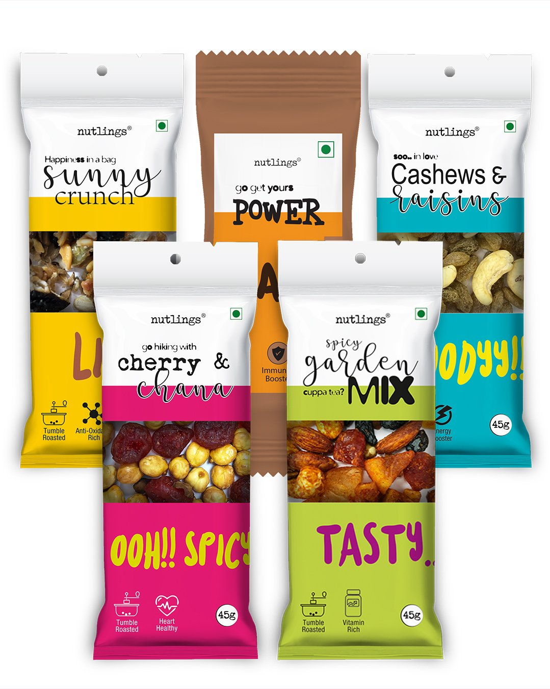 Fabulous Five Assorted Nuts & Seeds Box of 5