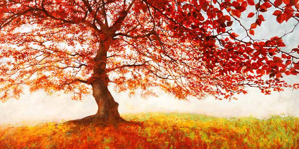 Red Sky Art - Plant a tree with every piece of art you buy - Artwork titled 'Red Leaves'