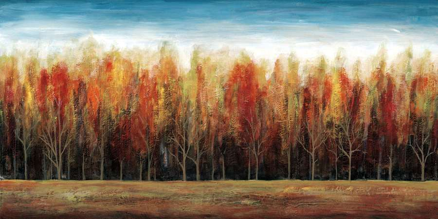 222165_C1 'Deep Forest' by artist Stephane Fontaine - Wall Art Print on Textured Fine Art Canvas or Paper - Digital Giclee reproduction of art painting. Red Sky Art is India's Online Art Gallery for Home Decor - 111_16332