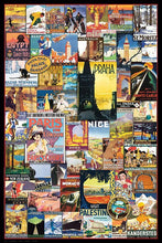 40002_C1_- titled 'Vintage Poster Collage' by artist Anonymous - Wall Art Print on Textured Fine Art Canvas or Paper - Digital Giclee reproduction of art painting. Red Sky Art is India's Online Art Gallery for Home Decor - 43_1750-0755