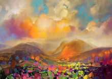 45115_C1 - titled 'Nevis Range Colour' by artist Scott Naismith - Wall Art Print on Textured Fine Art Canvas or Paper - Digital Giclee reproduction of art painting. Red Sky Art is India's Online Art Gallery for Home Decor - 55_WDC96317