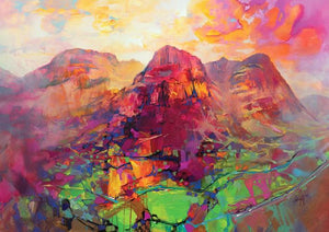 45136_C1 - titled 'Glencoe Harmonics' by artist Scott Naismith - Wall Art Print on Textured Fine Art Canvas or Paper - Digital Giclee reproduction of art painting. Red Sky Art is India's Online Art Gallery for Home Decor - 55_WDC96383