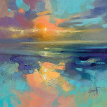 45137_C1 - titled 'Cerulean Cyan Study' by artist Scott Naismith - Wall Art Print on Textured Fine Art Canvas or Paper - Digital Giclee reproduction of art painting. Red Sky Art is India's Online Art Gallery for Home Decor - 55_WDC98169