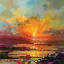 45140_C1 - titled 'Optimism Sunrise Study' by artist Scott Naismith - Wall Art Print on Textured Fine Art Canvas or Paper - Digital Giclee reproduction of art painting. Red Sky Art is India's Online Art Gallery for Home Decor - 55_WDC98173