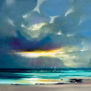 45142_C1 - titled 'West Coast Blues II' by artist Scott Naismith - Wall Art Print on Textured Fine Art Canvas or Paper - Digital Giclee reproduction of art painting. Red Sky Art is India's Online Art Gallery for Home Decor - 55_WDC98211