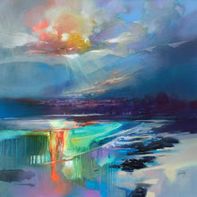 45167_C1 - titled 'Arran Shore' by artist Scott Naismith - Wall Art Print on Textured Fine Art Canvas or Paper - Digital Giclee reproduction of art painting. Red Sky Art is India's Online Art Gallery for Home Decor - 55_WDC98329