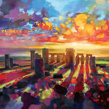 45175_C1 - titled 'Stonehenge Equinox' by artist Scott Naismith - Wall Art Print on Textured Fine Art Canvas or Paper - Digital Giclee reproduction of art painting. Red Sky Art is India's Online Art Gallery for Home Decor - 55_WDC98337