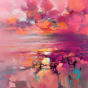 45182_C1 - titled 'Coral' by artist Scott Naismith - Wall Art Print on Textured Fine Art Canvas or Paper - Digital Giclee reproduction of art painting. Red Sky Art is India's Online Art Gallery for Home Decor - 55_WDC98357