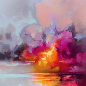 45184_C1 - titled 'Cumulus Cluster' by artist Scott Naismith - Wall Art Print on Textured Fine Art Canvas or Paper - Digital Giclee reproduction of art painting. Red Sky Art is India's Online Art Gallery for Home Decor - 55_WDC98359