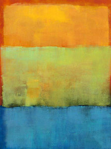 76029_C1_- titled 'Verve IV' by artist Katharine McGuinness - Wall Art Print on Textured Fine Art Canvas or Paper - Digital Giclee reproduction of art painting. Red Sky Art is India's Online Art Gallery for Home Decor - 761_TR15133