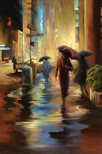 34826_C1_- titled 'Urban Reflections' by artist Carol Jessen - Wall Art Print on Textured Fine Art Canvas or Paper - Digital Giclee reproduction of art painting. Red Sky Art is India's Online Art Gallery for Home Decor - 761_TR7316