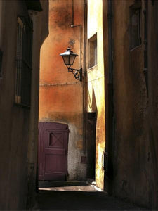 34761_C1_- titled 'Siena Alley II' by artist Jim Chamberlain - Wall Art Print on Textured Fine Art Canvas or Paper - Digital Giclee reproduction of art painting. Red Sky Art is India's Online Art Gallery for Home Decor - 761_TR8930
