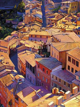 35128_C1_- titled 'Above Siena' by artist Tom Swimm - Wall Art Print on Textured Fine Art Canvas or Paper - Digital Giclee reproduction of art painting. Red Sky Art is India's Online Art Gallery for Home Decor - 762_TR18599