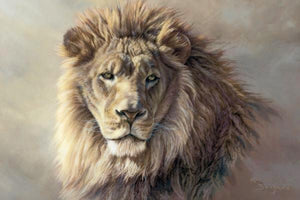 60101_C1_- titled 'His Majesty' by artist Kalon Baughan - Wall Art Print on Textured Fine Art Canvas or Paper - Digital Giclee reproduction of art painting. Red Sky Art is India's Online Art Gallery for Home Decor - B2055