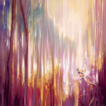 60006_C1_- titled 'Nebulous Forest' by artist  Gill Bustamante - Wall Art Print on Textured Fine Art Canvas or Paper - Digital Giclee reproduction of art painting. Red Sky Art is India's Online Art Gallery for Home Decor - B4363