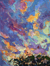 60118_C1_- titled 'California Sky (top left)' by artist Erin Hanson - Wall Art Print on Textured Fine Art Canvas or Paper - Digital Giclee reproduction of art painting. Red Sky Art is India's Online Art Gallery for Home Decor - H2817