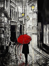 60124_C1_- titled 'The Delightful Walk' by artist Loui Jover - Wall Art Print on Textured Fine Art Canvas or Paper - Digital Giclee reproduction of art painting. Red Sky Art is India's Online Art Gallery for Home Decor - J885