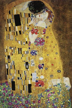60213_C1_- titled 'The Kiss' by artist Gustav Klimt - Wall Art Print on Textured Fine Art Canvas or Paper - Digital Giclee reproduction of art painting. Red Sky Art is India's Online Art Gallery for Home Decor - K349