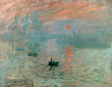 60201_C1_- titled 'Impression, Sunrise ' by artist  Claude Monet - Wall Art Print on Textured Fine Art Canvas or Paper - Digital Giclee reproduction of art painting. Red Sky Art is India's Online Art Gallery for Home Decor - M2037