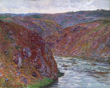 60174_C1_- titled 'Valley of the Creuse (Gray Day), 1889 ' by artist  Claude Monet - Wall Art Print on Textured Fine Art Canvas or Paper - Digital Giclee reproduction of art painting. Red Sky Art is India's Online Art Gallery for Home Decor - M2605