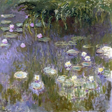 60030_C1_- titled 'Water Lilies, 1922 ' by artist  Claude Monet - Wall Art Print on Textured Fine Art Canvas or Paper - Digital Giclee reproduction of art painting. Red Sky Art is India's Online Art Gallery for Home Decor - M3061
